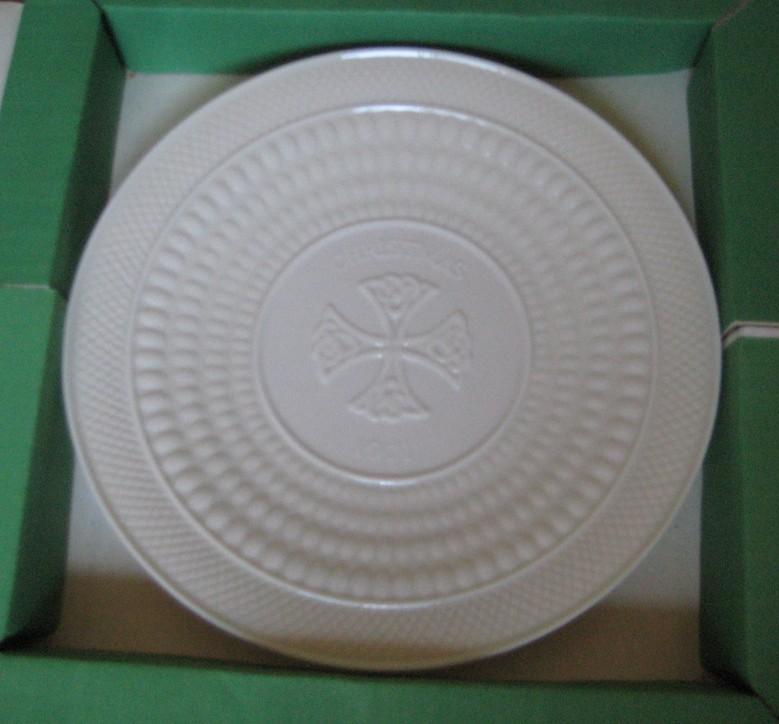 & Belleek Christmas Plates